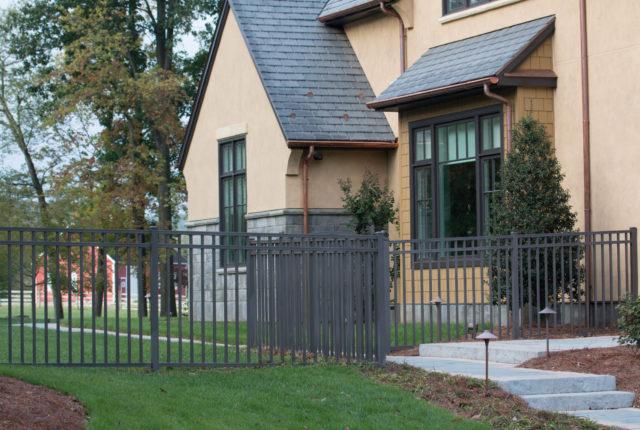 aluminum fence with embellishments