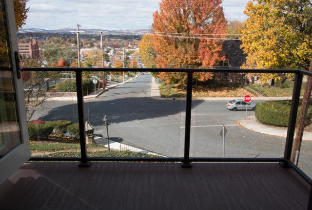 modern aluminum railing for commercial property