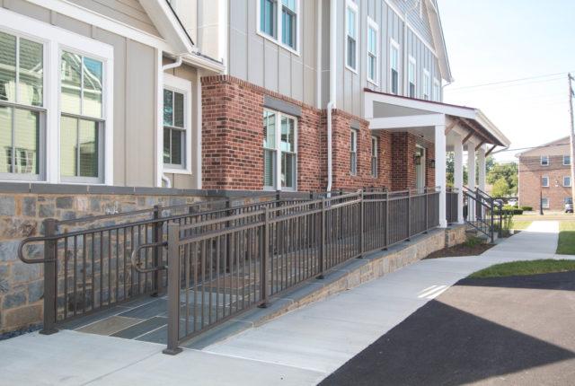 powder coated aluminum front porch railing