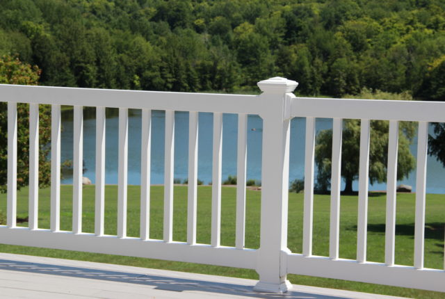white pvc railing