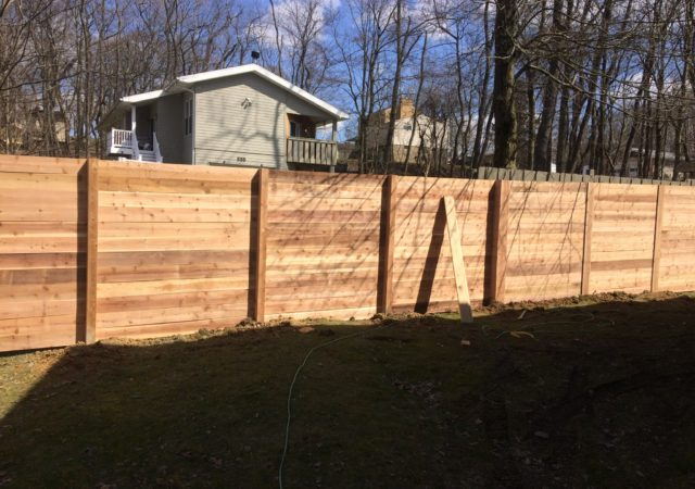 Cedar wooden fence type