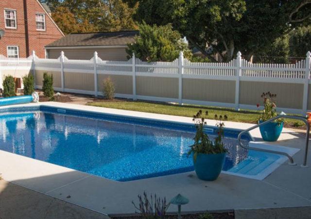 pittsburg pa tan vinyl pool fence