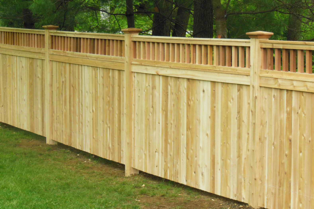 Solid wood fence for added privacy in backyard