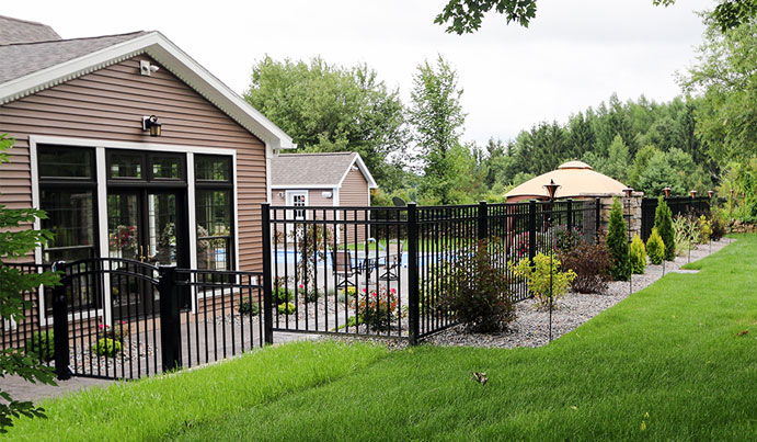 House in Pittsburgh with aluminum fence