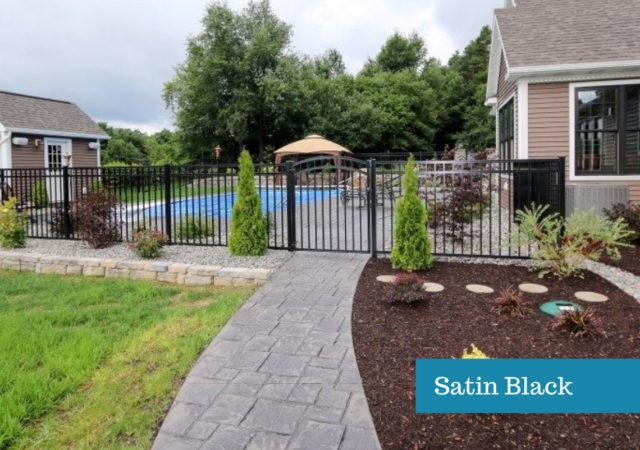 Residential Satin Black Fence Color