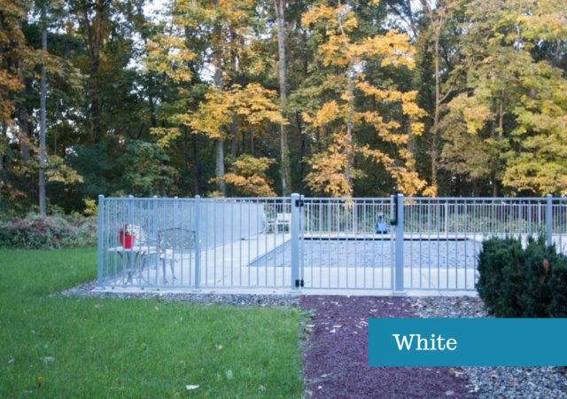 White aluminum fence in Pittsburgh residency
