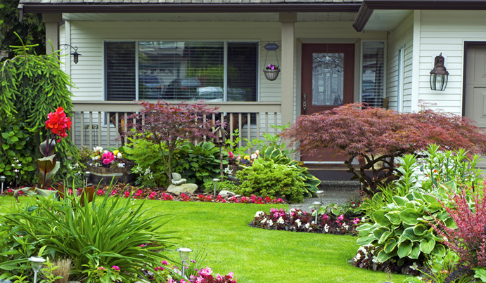 Landscaping for front porches