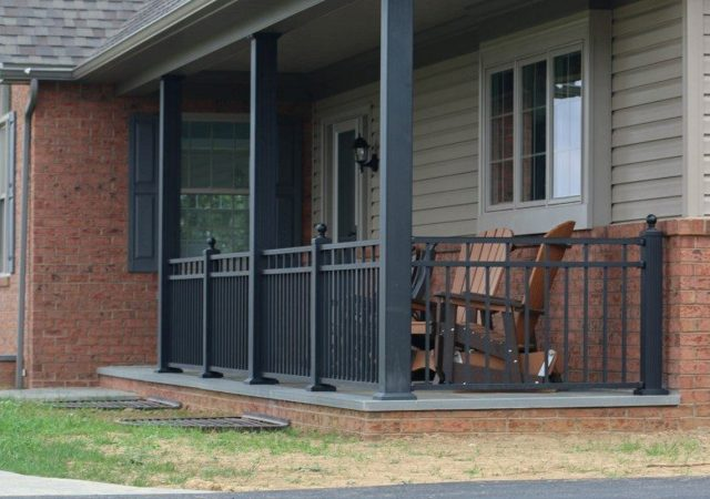 Modern aluminum railing material