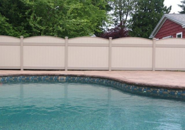 Privacy vinyl fence approved by BOCA