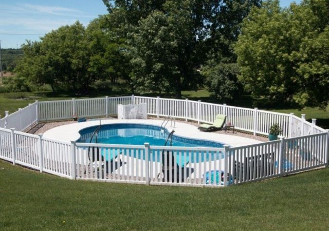 White fences for pool protection