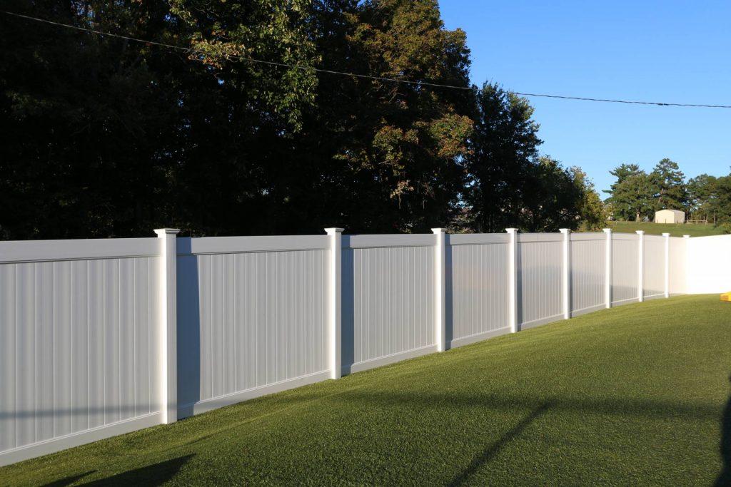 Luxury white residential vinyl fencing