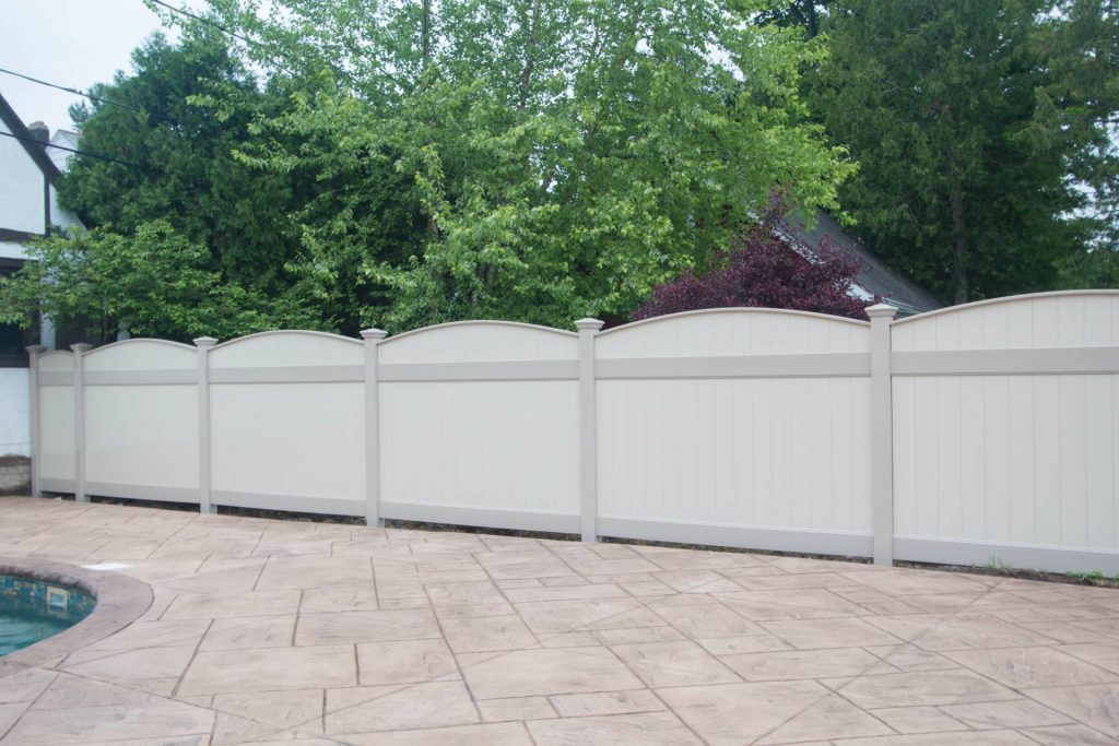 Luxury vinyl privacy fencing installation company