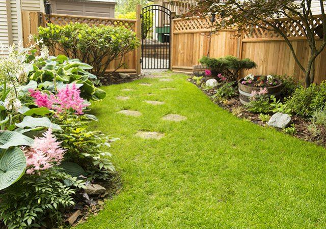 Backyard fence design idea for garden