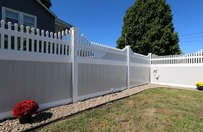Decorative fencing for backyard privacy