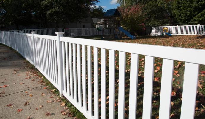 Safe fence for backyard playground