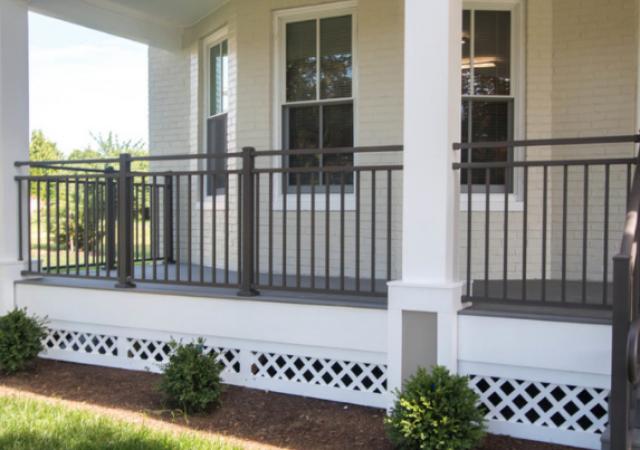 Bronze affordable aluminum porch railing