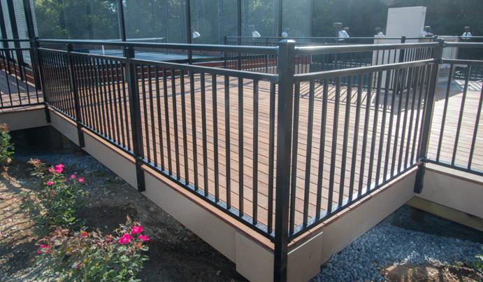 Modern aluminum exterior railing