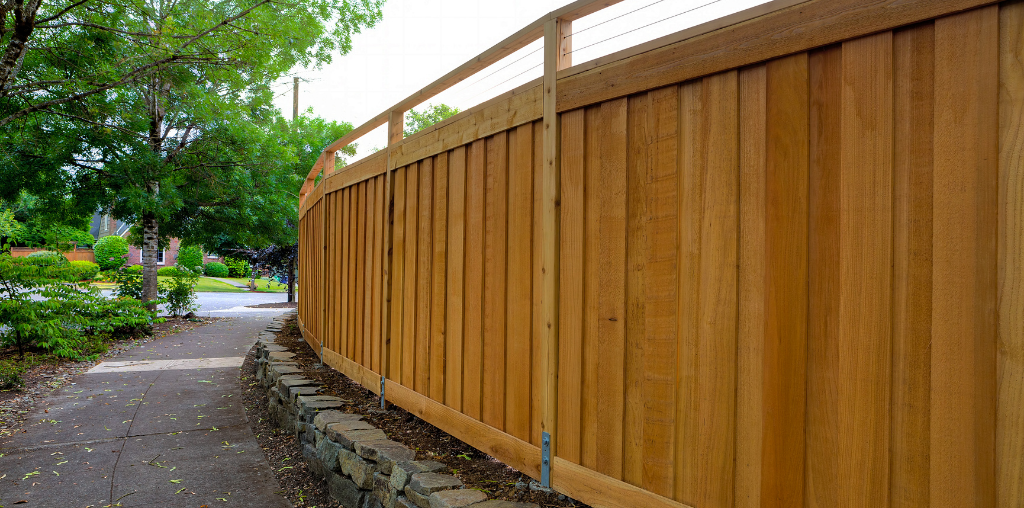 Wooden privacy fence alternative to electric dog fence
