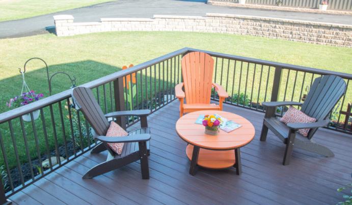 Backyard deck railing design ideas