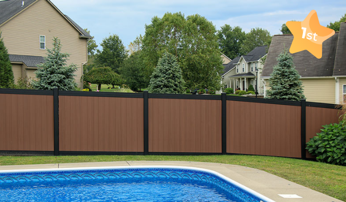 Vinyl pool fence for privacy