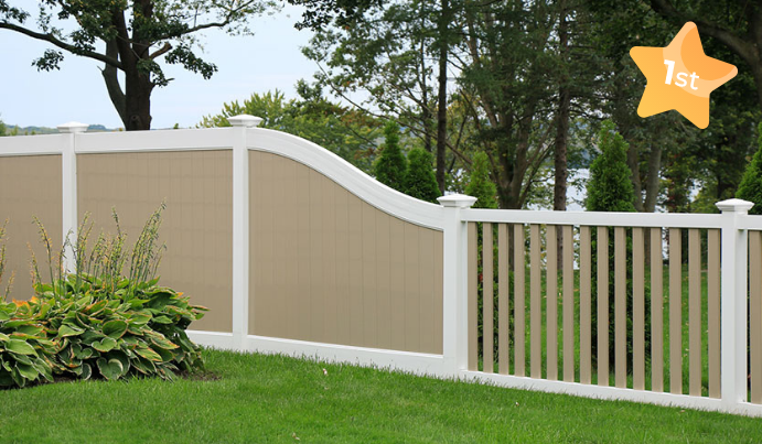 Vinyl fencing style for backyard