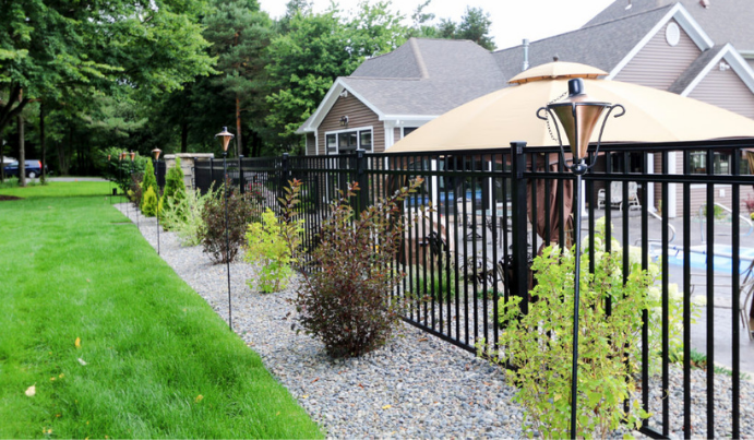 Contemporary fence idea for single family home with pool