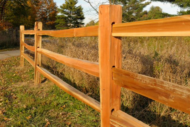 Wood fencing installation from Pittsburgh PA